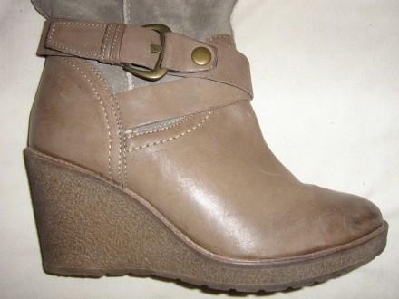 Продам сапоги Ulanka Испания, верх натуральная кожа+замша, каблук 8,5 см, длина . Запорожье, Запорожская область. фото 4