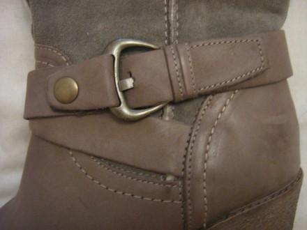Продам сапоги Ulanka Испания, верх натуральная кожа+замша, каблук 8,5 см, длина . Запорожье, Запорожская область. фото 10