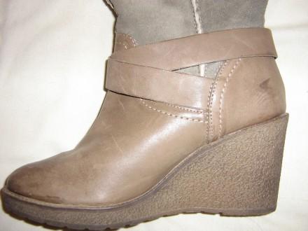 Продам сапоги Ulanka Испания, верх натуральная кожа+замша, каблук 8,5 см, длина . Запорожье, Запорожская область. фото 5