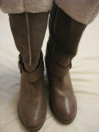 Продам сапоги Ulanka Испания, верх натуральная кожа+замша, каблук 8,5 см, длина . Запорожье, Запорожская область. фото 1