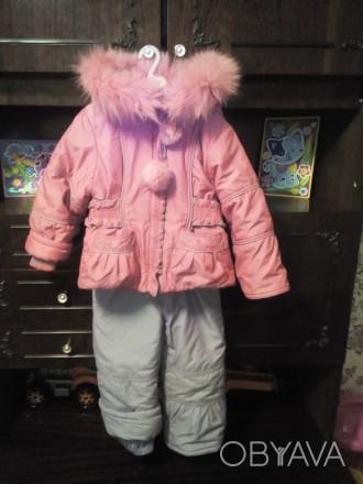 Продам зимний комбинизон с курточкой для девочки в очень хорошем состоянии.Возра. Чернигов, Черниговская область. фото 1