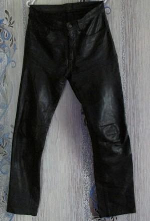 Кожаные мотоштаны чёрные,Р.32(Европейский). Одесса. фото 1