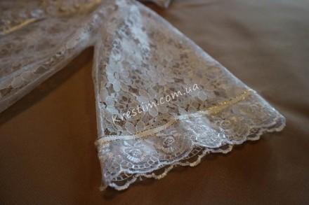 Привлекательная и очень нужная вещь на крестины – это крестильная рубашка-накидк. Александрия, Кировоградская область. фото 4