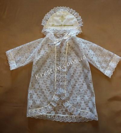 Привлекательная и очень нужная вещь на крестины – это крестильная рубашка-накидк. Александрия, Кировоградская область. фото 2