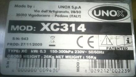 Пароконвектомат Unox XVC 704 серии ChefTop. 2007г.в., мало использовался, в отл. Киев, Киевская область. фото 8