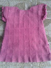 Продам новое вязанное платье на девочку 1.5-2 года.Ручная работа.Можно носить ка. Днепр, Днепропетровская область. фото 3