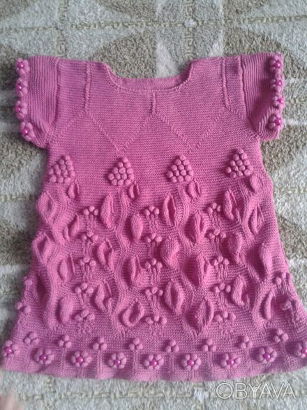 Продам новое вязанное платье на девочку 1.5-2 года.Ручная работа.Можно носить ка. Днепр, Днепропетровская область. фото 1