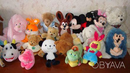 Продам мягкие игрушки в ассортименте, размер 12-30 см, в хорошем состоянии, цена. Харьков, Харьковская область. фото 1
