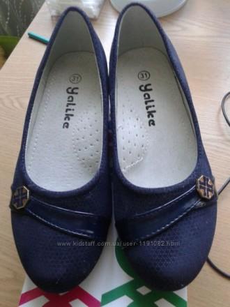 Туфельки для девочки темно синего цвета. Киев. фото 1