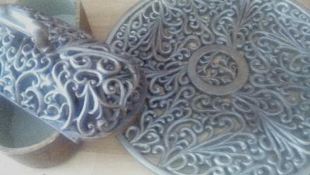 шкатулка с тарелкой, керамика. Киев. фото 1