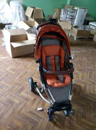 Коляска Moon Buggy Flac Brown Orange Melange. Ивано-Франковск. фото 1