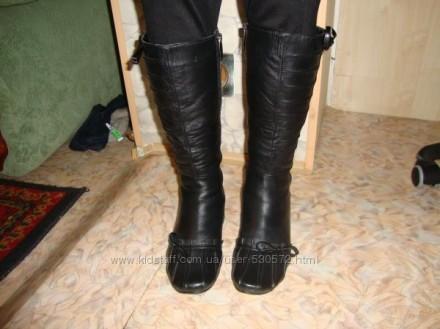 Сапоги кожаные-натуральная кожа, цигейка, 36р.. Мариуполь. фото 1