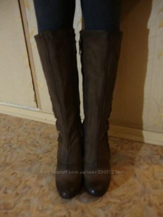 Сапоги полностью кожаные внутри и снаружи .. Маріуполь. фото 1