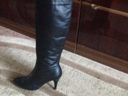 Продам женские кожаные демисезонные сапоги. Николаев. фото 1