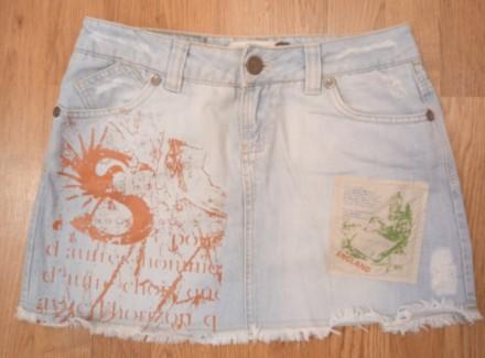 Юбки джинсовые белые и голубая. Днепр. фото 1