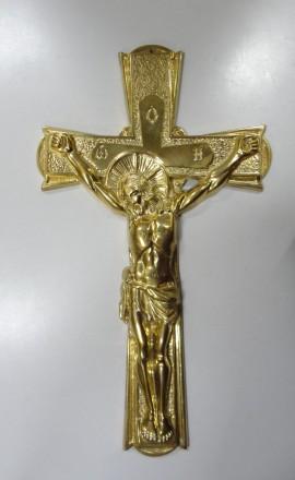 Крест распятие -бронза. Житомир. фото 1