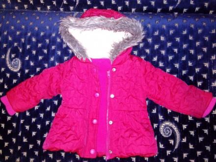 Курточка теплая осень-зима для девочки 6-12мес. (разм.74-80см). Житомир. фото 1