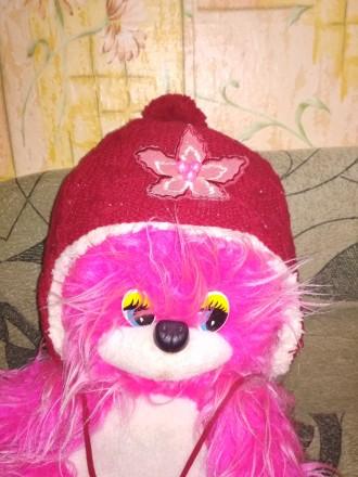 шапка зимова для дівчинки 5-7 років , дуже тепла. Винница, Винницкая область. фото 3