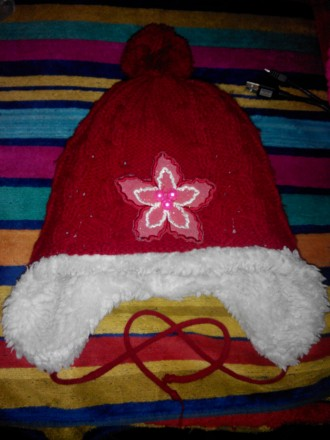 шапка зимова для дівчинки 5-7 років , дуже тепла. Винница, Винницкая область. фото 2
