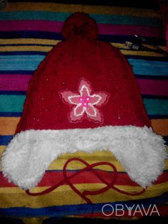 шапка зимова для дівчинки 5-7 років , дуже тепла. Винница, Винницкая область. фото 1