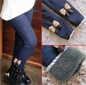 Тёплые леггинсы для девочек под джинс. Белая Церковь. фото 1