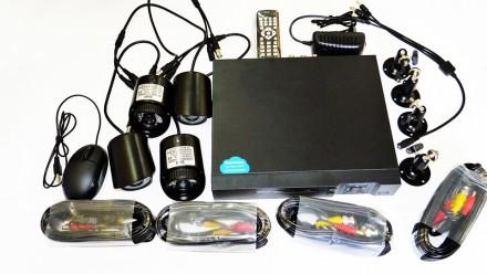 Видеорегистратор DVR KIT 8 HD720 4-канальный (4камеры в комплекте). Днепр. фото 1