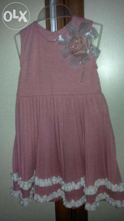 Нарядное платьице на 2 года состояние нового. Мариуполь. фото 1