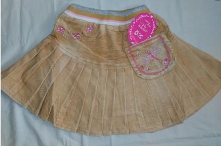 Яркая модная вельветовая юбка для девочек на резинке 6 мес. - 6 лет. Мариуполь. фото 1