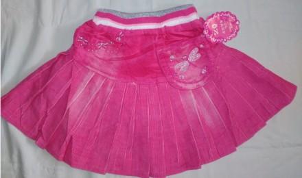 Яркая модная вельветовая юбка для девочек на резинке 6 мес. - 3 лет. Мариуполь. фото 1