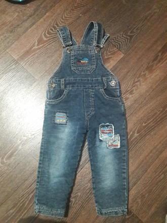 Утепленный джинсовый комбинезон. Чоп. фото 1