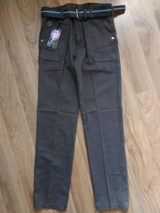 Красивые Котоновые брюки джинсы чиносы на мальчика 9-13 лет. Маріуполь. фото 1