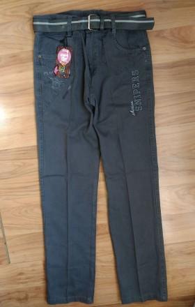 Котоновые брюки джинсы чиносы на мальчика 10,11,12,13,14 лет Турция. Маріуполь. фото 1