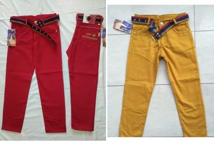 Котоновые брюки джинсы чиносы на мальчика 6-13 лет. Маріуполь. фото 1