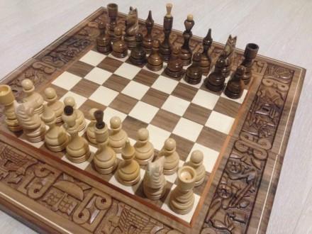 Шахматы-нарды ручной работы Бой за корону. Киев. фото 1