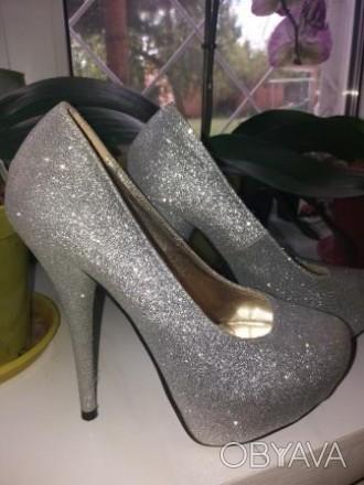 Красивые туфли на высоком каблуке 13 см подойдут для любого торжества. Удобные, . Сумы, Сумская область. фото 1
