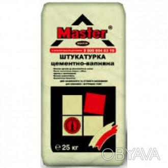 Цементно-известковая штукатурка предназначена для выравнивания   и подготовки . Киев, Киевская область. фото 1