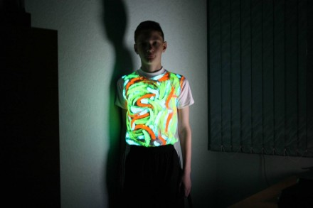 Светящаяся в темноте краска для ткани. Одесса. фото 1