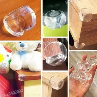 Накладки уголки силиконовые на мебель для защиты детей ребенка малыша. Борисполь. фото 1