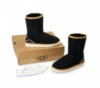 UGG Classic Short ОРИГИНАЛ Black Ornament. Киев. фото 1