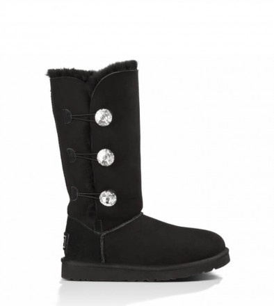 UGG Bailey Button Triplet Bling Оригинал Black. Киев. фото 1