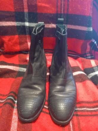 Осенние высокие кожанные ботинки 39 размер. Одесса. фото 1
