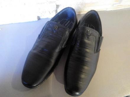 Классические кожаные школьные туфли на мальчика. Школа, Кожа. 32-37. Мариуполь. фото 1