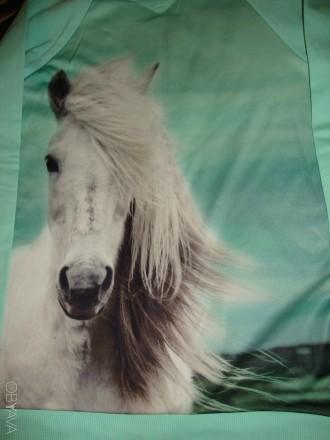 Свитшот мятного цвета с лошадкой.. Мариуполь. фото 1