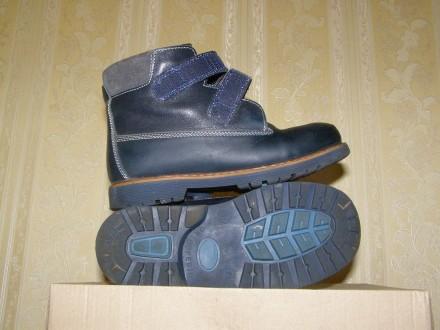 Зимние кожаные ботинки для мальчика. Киев. фото 1