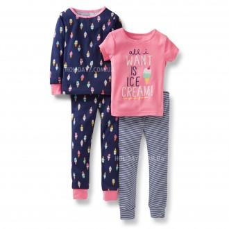 Комплект с 2-их пижамок для девочки Carters (США) возраст 3-5 лет. Луцьк. фото 1