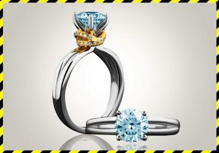 Золотое кольцо с голубым бриллиантом 0,75 ct. -DREAM-! Эксклюзив.. Днепр. фото 1