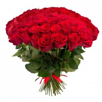 Красные и белые розы в Одессе, купить свежие розы в магазине. Одесса. фото 1