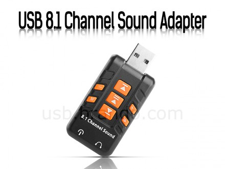 USB звуковая карта 8.1канал 44.1KHz 8-Bit USB Sound Adapter. Червоноград. фото 1