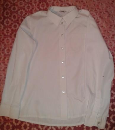Белая рубашка BHS с длинным рукавом для школьницы 12 лет. Київ. фото 1