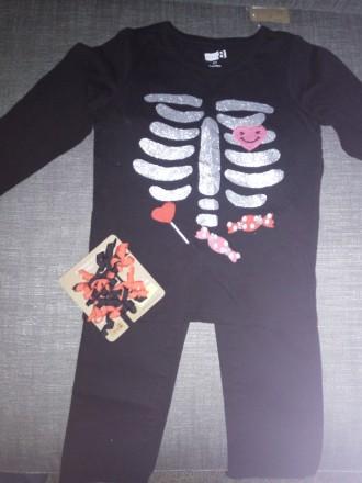 Костюм на хеллоуин девочке 1.5-2 года. Арбузинка. фото 1